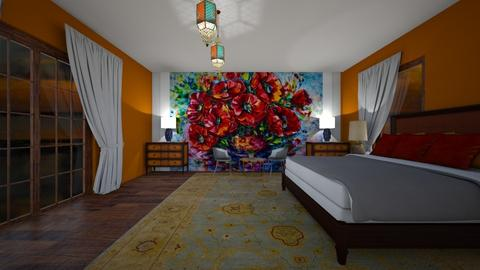 poppy 04 - Eclectic - Bedroom  - by decordiva1