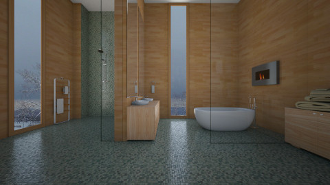 Natural Minimalista - Bathroom  - by Sanare Sousa