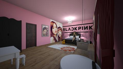 Blackpink Bedroom - Bedroom  - by DarkCrystal135