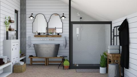 farm bathroom - Bathroom  - by Charipis home