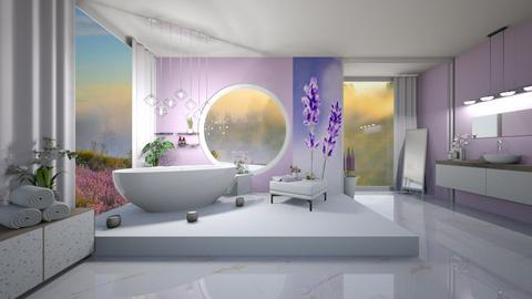 Lavender bathroom - Classic - Bathroom - by Savina Ivanova
