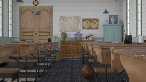 Vintage classroom - Vintage - Office  - by HenkRetro1960