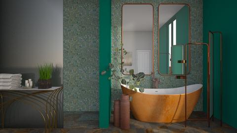Turquoise and Metal 01 - Bathroom - by Asha_Shade