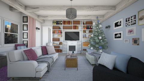Christmas Living Room - Vintage - Living room  - by Bee0196