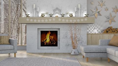 Rustic Christmas - Living room  - by LB1981