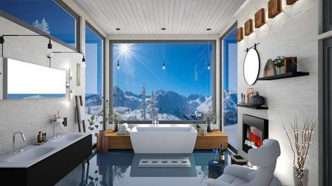 Bathing in Mountain Views - Bathroom  - by Amyz625