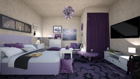 rouze bedroom - Bedroom - by ilikalle
