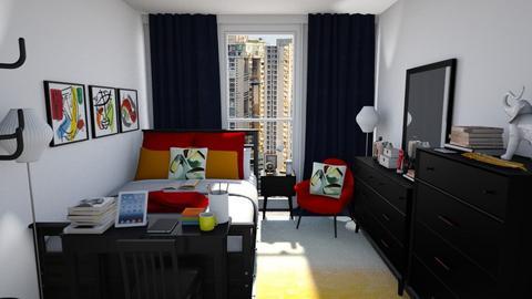 London Inspired Dorm Room - Bedroom  - by Cap98