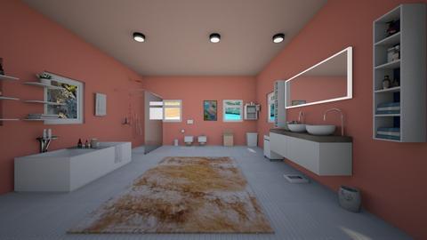 blush bath - Bathroom - by crystalg98