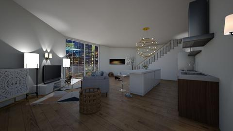 Living in New York_Remix - Modern - Living room  - by Babybluewolfboo