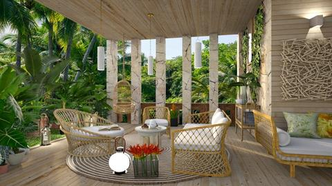 Tropical patio 3 - by milyca8