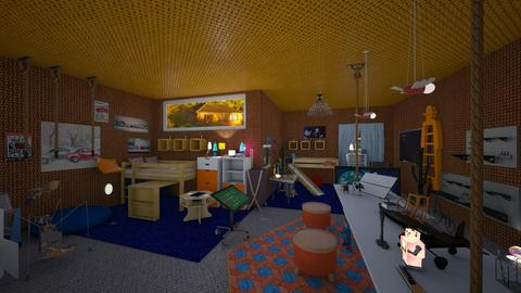 Orange and Bue - Kids room - by LilDebbieFrmDwnDaStreet