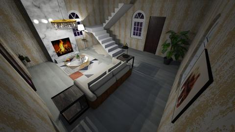 lux stairs for contest - Living room  - by CW THE HARRY POTTER FAN