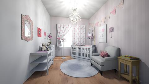Desky pokoj pro holcicku - Kids room  - by HanaDocekalova