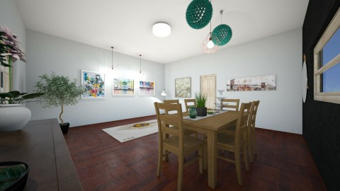 y - Dining room - by hannahre