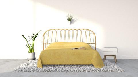 yellow - Minimal - Bedroom  - by tigeriffic