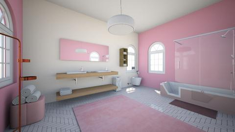 pink bathroom - Bedroom  - by Chayjerad