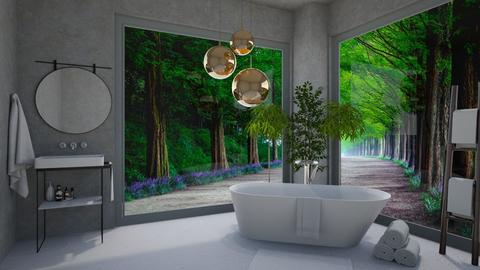 Jungle Bathroom - Bathroom  - by KittyKat28