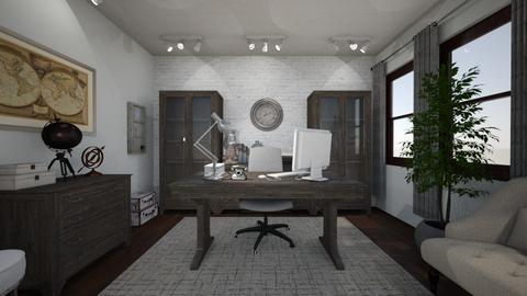 Dream Office - Vintage - Office  - by MessyArtwok