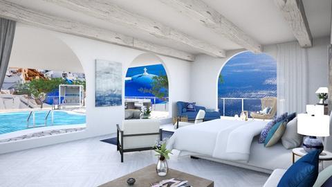 Modern Greek Vibes  - Bedroom  - by Amrita_johall03