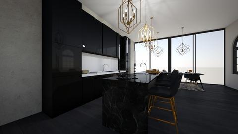 b l a c k_g o l d - Modern - Kitchen  - by Marlisa Jansen