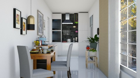 Small Apartment Kitchen - Modern - Kitchen  - by ayudewi