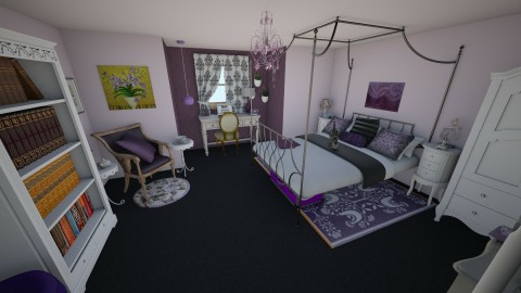 purple shabby goth - Bedroom - by Miss Cronqvist