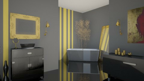 Black and Yellow - Modern - Bathroom  - by idna