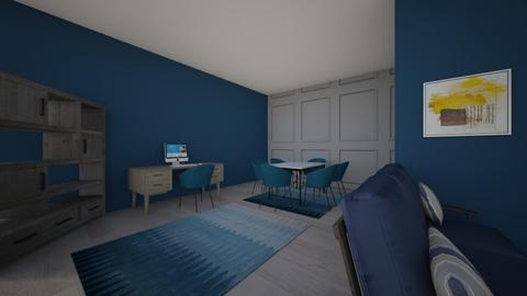 blueliving room - Living room  - by deandesigns