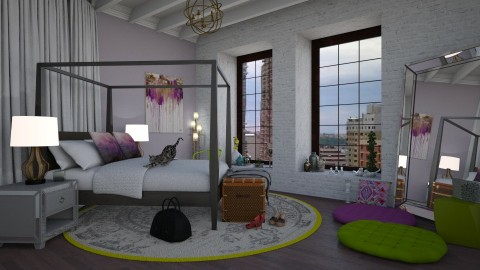 Lavendar Dreams - Eclectic - Bedroom  - by Katie Whitley