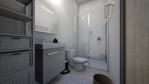Nadyas Ensuite - Minimal - Bathroom  - by nadyabbrah