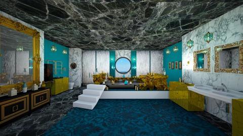 Turquoise Metal Bathroom - Bathroom - by Gab71892