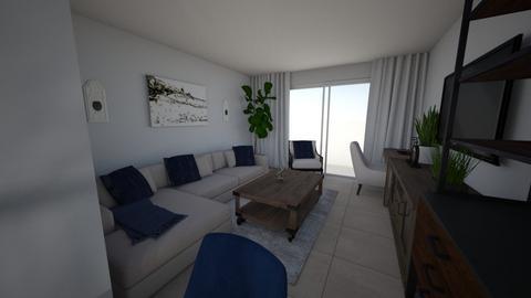 Sarah Apt 3 Living Room  - Living room - by emmanuelmanny