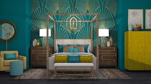 Turquoise Metal Bedroom 2 - Bedroom - by jjp513
