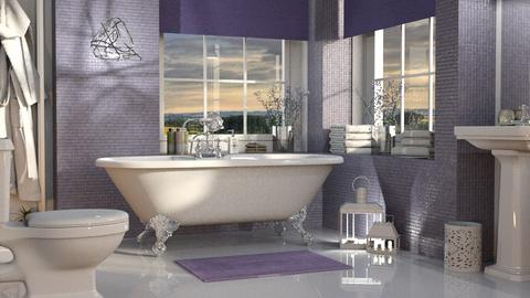Lavender Bathroom - Bathroom - by GraceKathryn