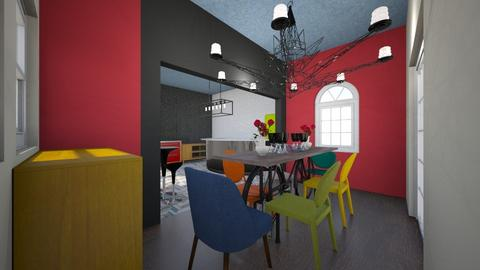 Colorful Dining room - Eclectic - Dining room  - by SWilliamson2