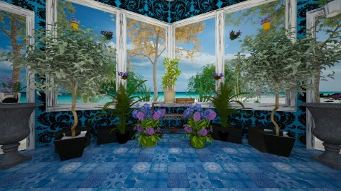 TurquoiseTerrace - Classic - Garden  - by lori gilluly