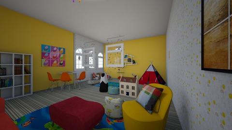 Fun Kids Room - Kids room  - by qpurpl3pandas