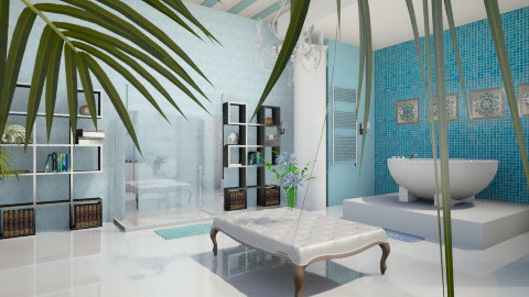 Sexy Blue Bathroom - Modern - Bathroom  - by DiamondJ569