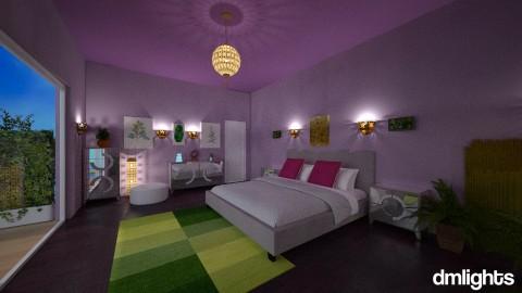 Purple and Green bedroom - Modern - Bedroom - by Perta