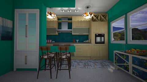 mdern playful kithn - Kitchen - by Kylie Awa