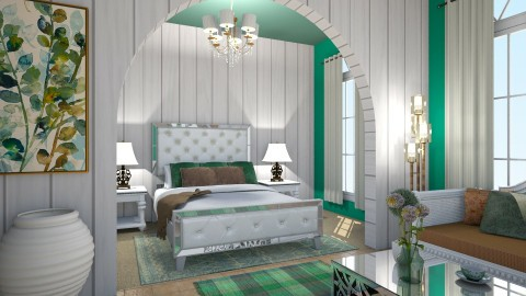 Simple green - Bedroom - by Sandra Janeth
