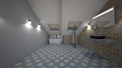 Attic Ensuite - Rustic - Bathroom  - by jaiden2006