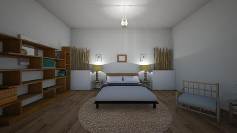 bamboo bed room - Bedroom  - by XenaChico