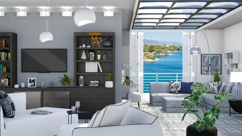 M_ Waterfront house - Living room  - by milyca8