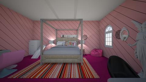Rayns Room Design - Retro - Bedroom  - by dreaminjayd