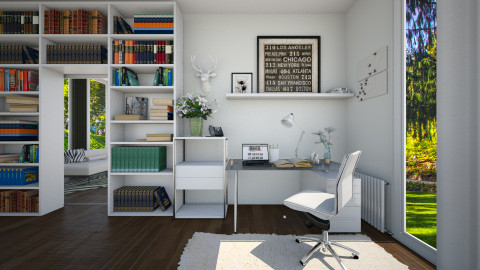 White Office - Office  - by nellica
