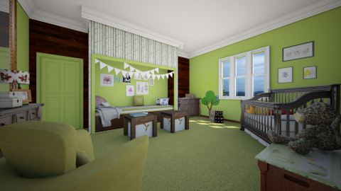 eclectic nursery - Eclectic - Kids room  - by donella