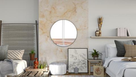Cozy Natural Hideout - Bedroom  - by MilksDaBunz