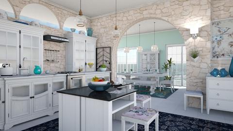 M_ Martin Sofia and Simon - Kitchen  - by milyca8